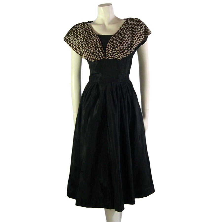 Vintage Black Evening Dress 1950s Rare Vintage Clothing Evening Dresses Vintage Vintage Designer Clothing Vintage Gowns