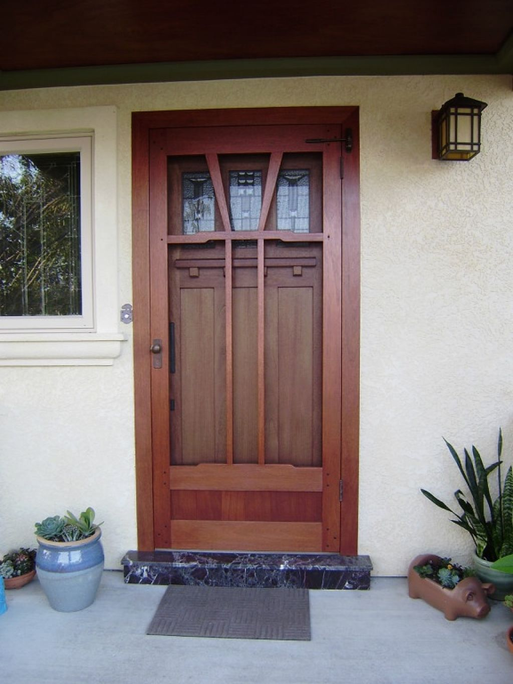Wooden screen door home design apartment pinterest for Door and screen door combo