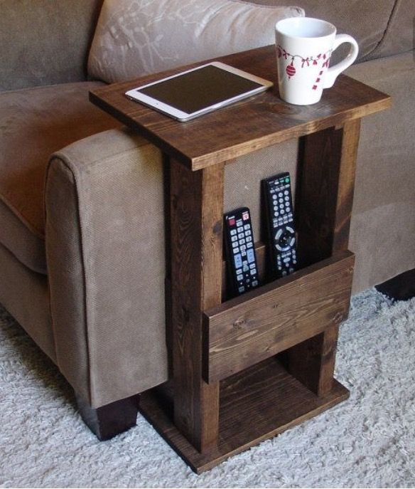 Diy Couch Table With Remote Control Holder In 2019