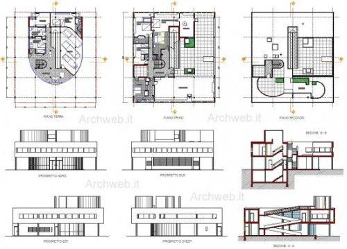II floor (1) villa savoye Pinterest Villas - plans maisons gratuit logiciel dessin plan maison