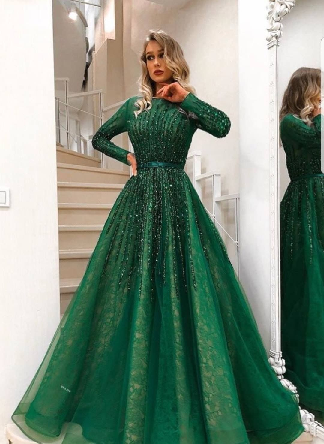 Green n gold dress  Pin by Chatun on Kleider  Pinterest  Dresses Fashion and Prom dresses