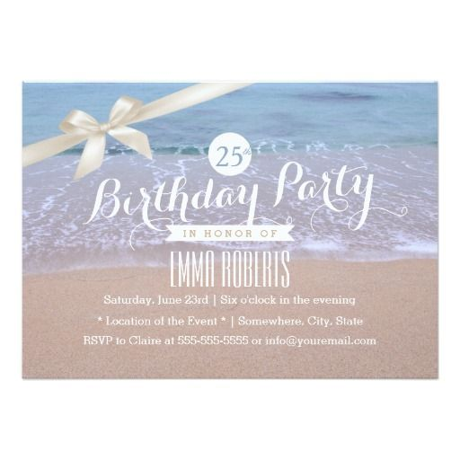 Beach Party Invite I Like The Wording On This With Images