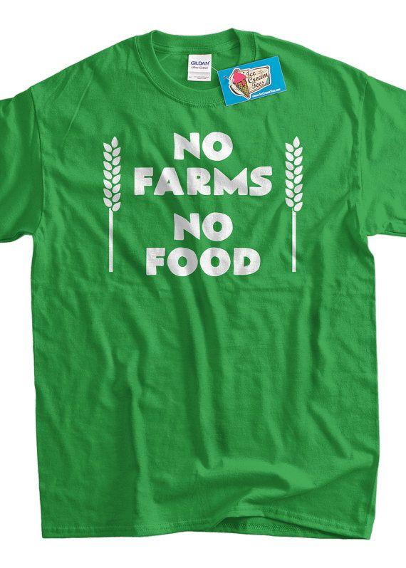 563888c2 Activist Farming T-shirt Farmer Local No Farms No Food T-shirt Gifts for Dad  Screen Printed T-Shirt Tee Shirt Mens Ladies Womens Youth Kids