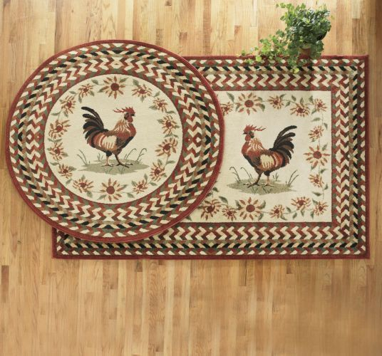Top of the Morning Rooster Rug | Rooster decor, Rooster ...