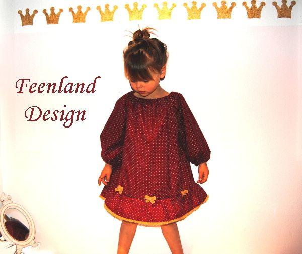 Festkleid Little Miss Wunschfarbe von krabbelkee collection by Feenland auf DaWanda.com