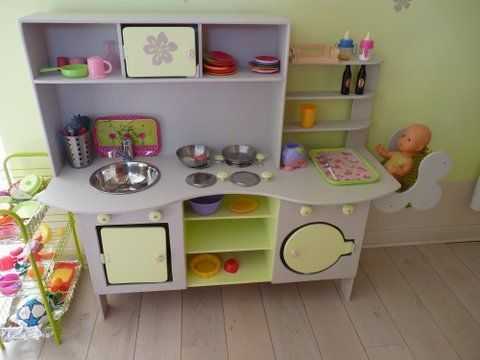 Play kitchen love the high chair for baby dolls chloe - Fabriquer cuisine enfant ...