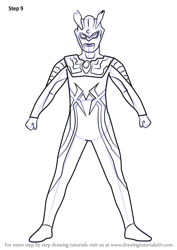 Learn How To Draw Ultraman Zero Ultraman Step By Step Drawing