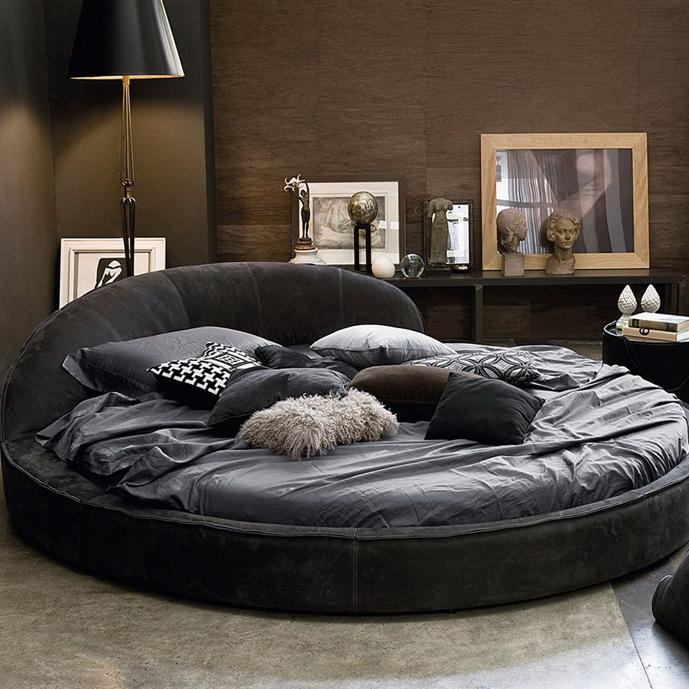 The Jazz is a modern Italian round leather bed and is a