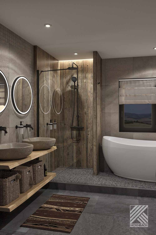 Musterbad Namibia Hornbach In 2021 Badezimmereinrichtung Badezimmer Gestalten Badezimmer Naturstein