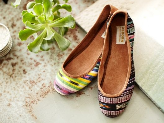 Ikat Ballet Flats by Osborn from Molly Sims on OpenSky