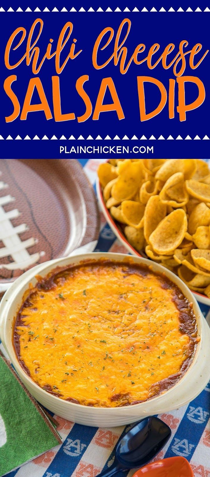 Cheese Salsa Dip recipe - took this to a party and it was the first thing to go!! Everybody asked for the recipe. They couldn't believe how easy this was to make!!! Chili, Cream Cheese, Salsa and Cheddar Cheese. Serve the dip with fritos, tortilla chips, celery stick or bell pepper strips. Tastes great hot out of the oven or cooled to...