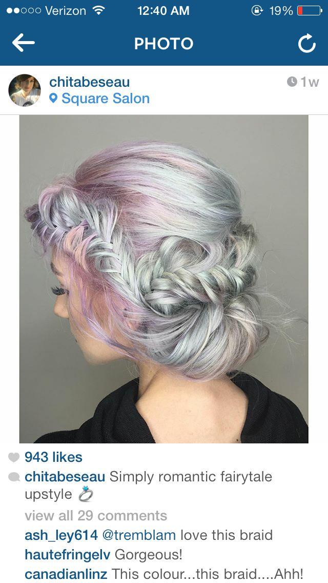 Fishtail updo from Instagram
