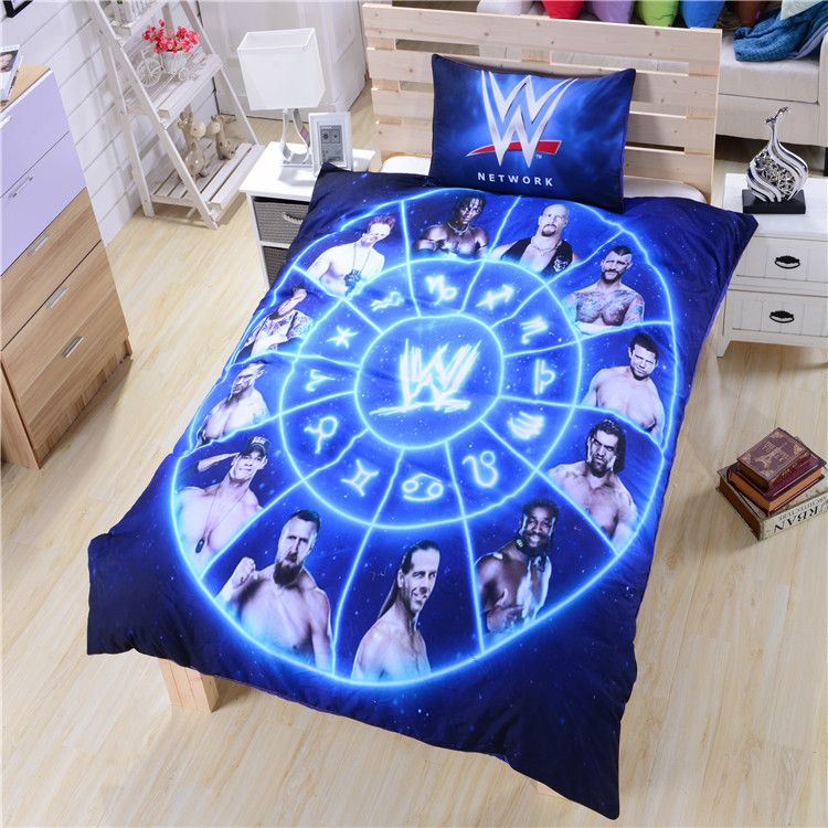 Famouse Wwe Bedding Duvet Cover Wrestling Unique Gift High Quality Ykk Zipper Soft Bed Sheets