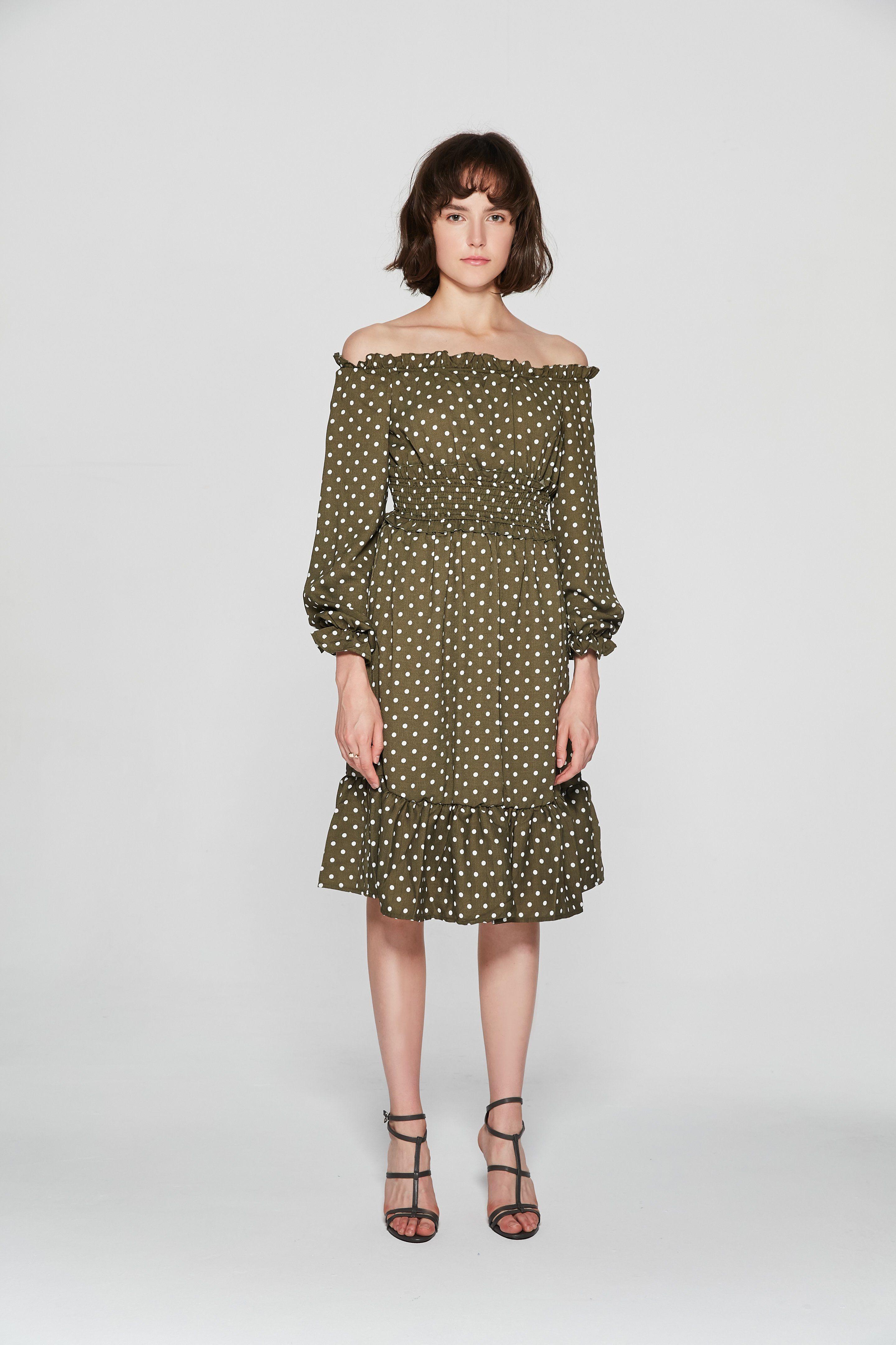 Polka dot bardot dress dr products pinterest bardot dress