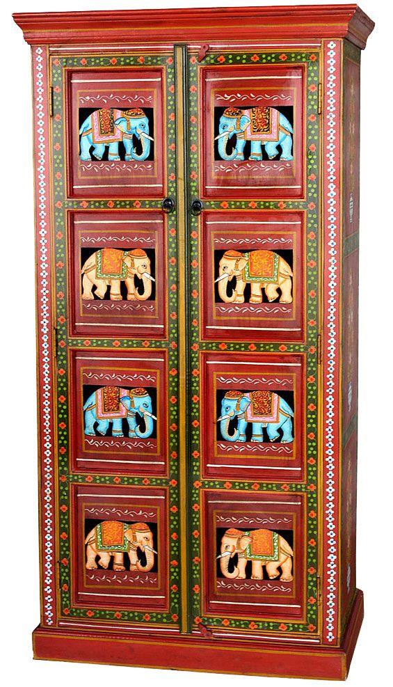 ✩ Schrank im Indien-Stil. Aus hochwertigem Akazien- und Mangoholz ...