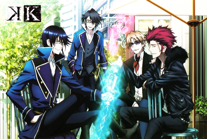 K Project - Izumo, Mikoto, Reisi and Saruhiko Official Art ...