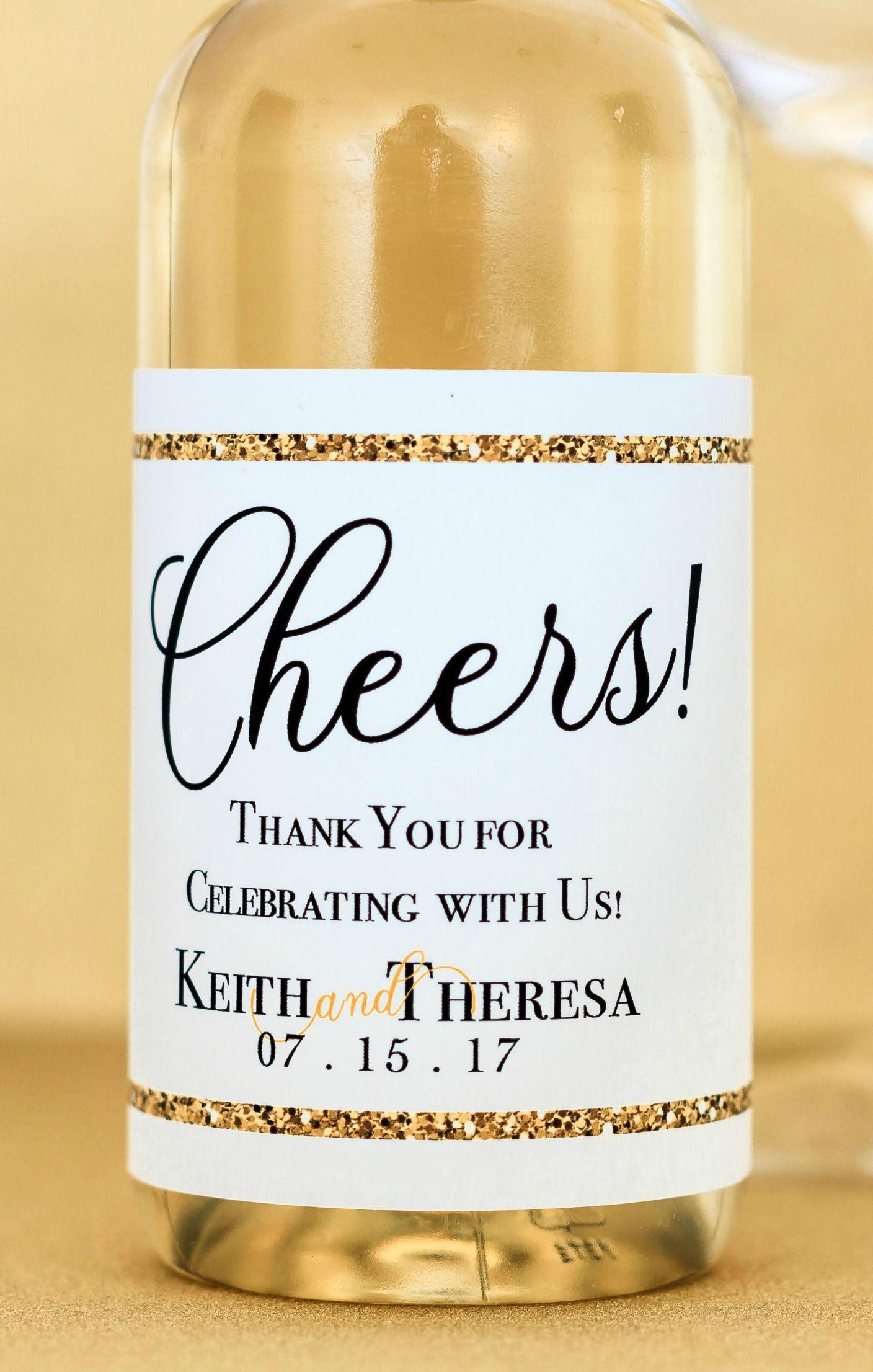mini wine bottles labels wedding custom mini wine labels gold