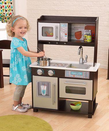 Superbe Espresso Toddler Kitchen By KidKraft #zulily #zulilyfinds