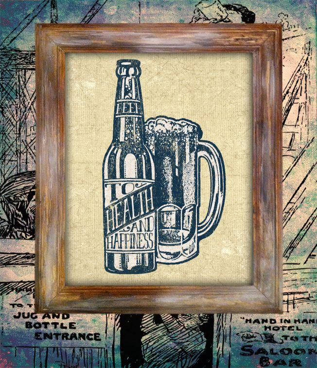 beer art print design poster drink alcohol vintage bottle americana ...