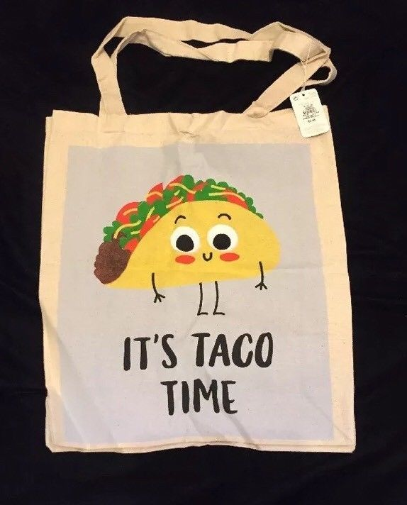 1adfb2b7acd Details about PRIMARK It's Taco Time Tote Bag Shopping Atmosphere ...