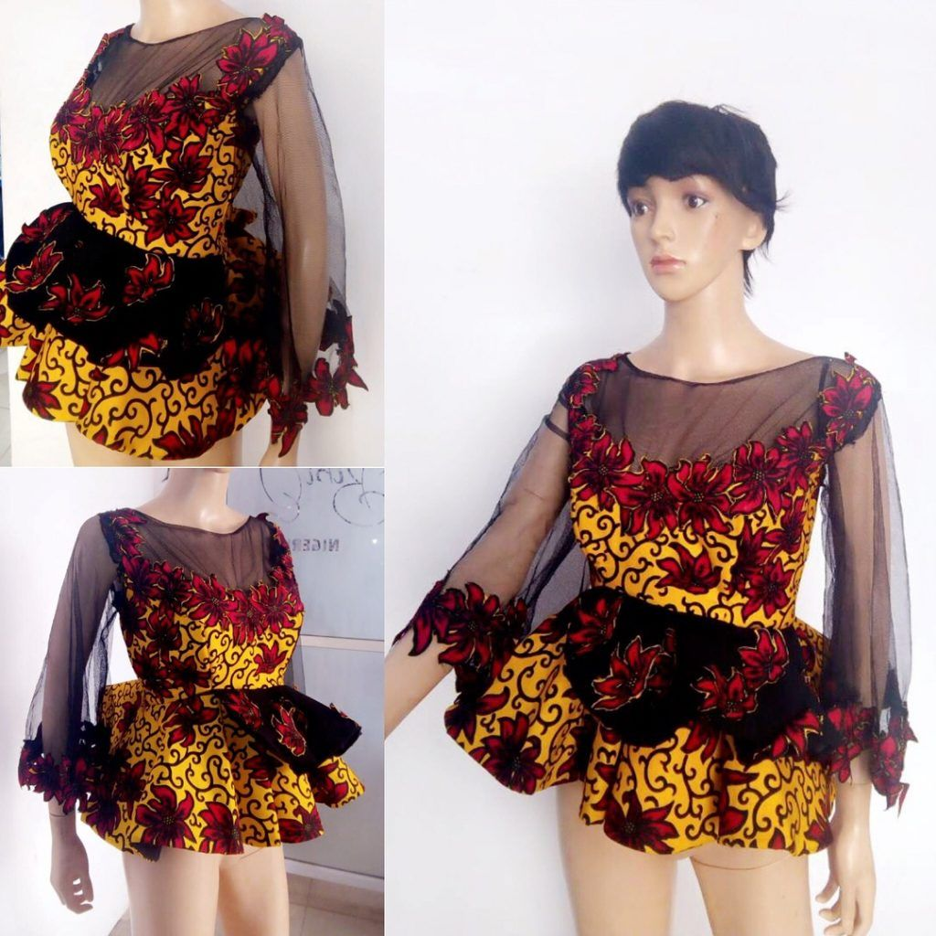 9dd85c47 There's something very stylish and elegant about Ankara peplum tops, these  beautiful designs will add that extra flare needed to take your style to a  ...