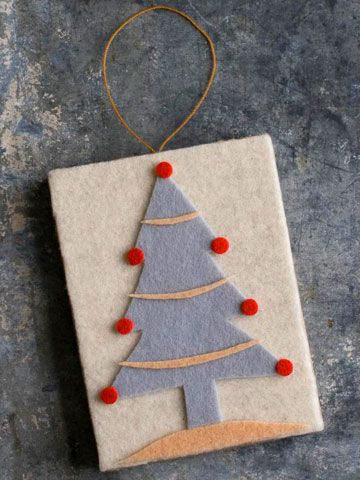 Festive Tree Felt Ornament