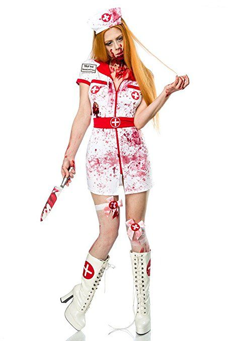 fd0347c9e549de Halloween Kostüm `Zombie Nurse` by MASK PARADISE Fasching Karneval A80015
