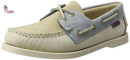 Sebago Spinnaker, Chaussures Bateau Femme, Gris (Taupe/Beige/Grey NBK), 38 EU