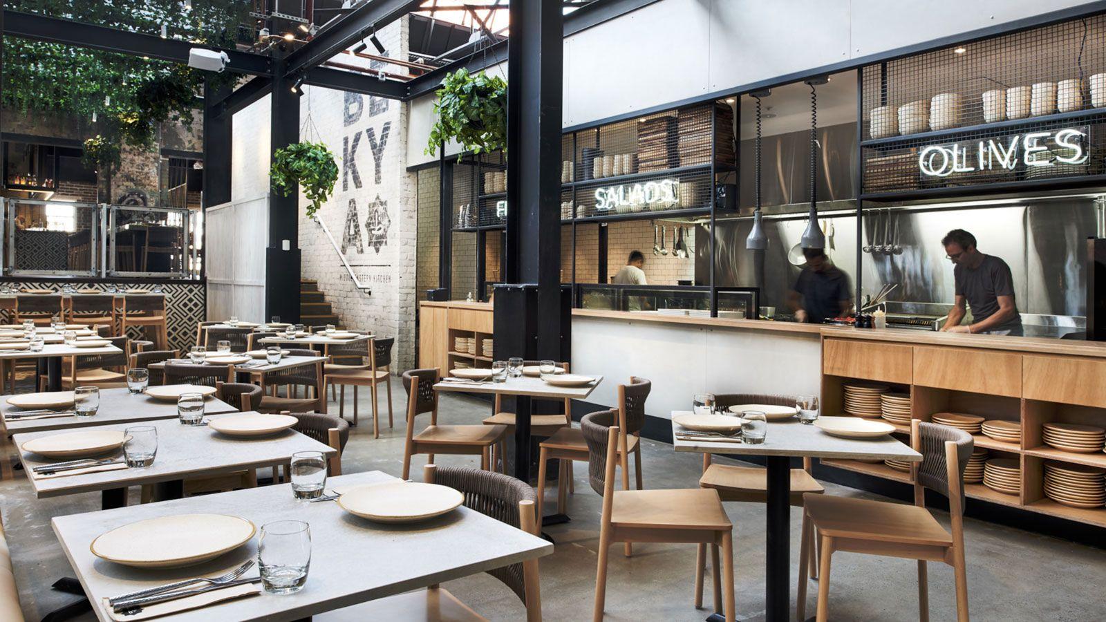 Bekya Tramsheds Harold Park Sydney Open Kitchen Restaurant Bar Design Restaurant Restaurant Interior