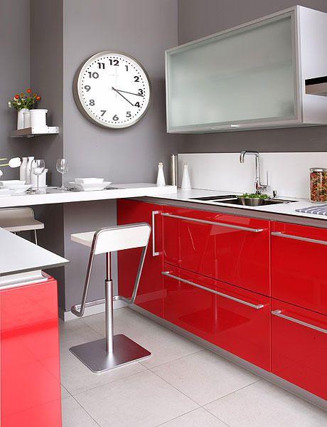 Cocina roja #cocinas #kitchens Cocina Pinterest Kitchens, Red