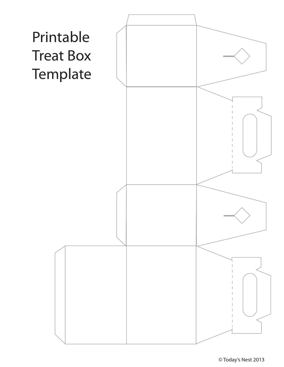 Printable Template For A Little Box Perfect Cans Or Small Gifts Print On Cardstock Cut And Glue