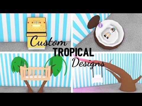 8 Custom Tropical Design Ideas Building Hacks Roblox Adopt Me Its Sugarcoffee Youtube In 2020 Tropical Design Custom Pet Furniture Cute Room Ideas