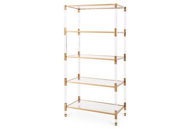 This Acrylic And White Etagere Is Ultra Chic And Modern With