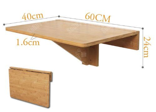 how to build a drop down wall table | wall mounted table, wall