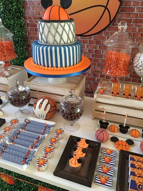 Mickey Mouse Birthday Party Ideas Basketball birthday parties - mickey mouse boy birthday party ideas