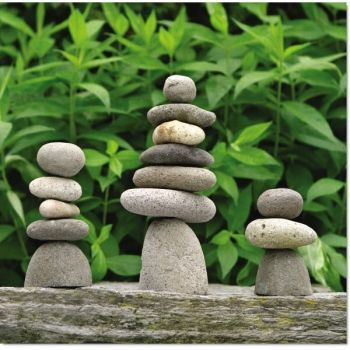 River Stone Cairns 3 Sizes Stone Cairns Garden Statues Rock