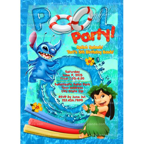 Lilo And Stitch Birthday Banner Lilo And Stitch Baby: Lilo And Stitch 1st Birthday Save The Date Invitations