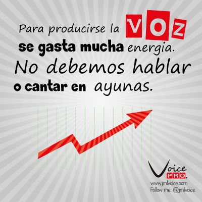 #ConsejoDelDia Para producirse la Voz se gasta mucha energía. No debemos hablar o cantar en ayunas.  Dra. Janaína Mendes #VozSana @VoicePRO