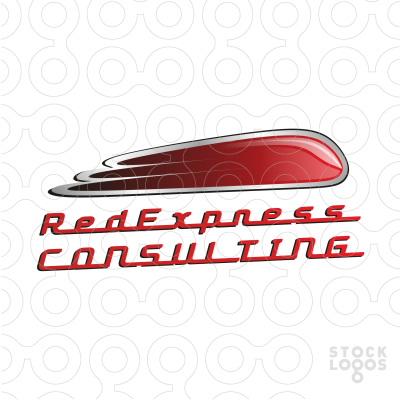 Logo made for a consulting company, but it could be also used by IT company which is dealing with Ruby programming language. It shows an abstract express train .