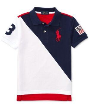 ac53bc613aa76 Ralph Lauren Big Pony Mesh Cotton Polo Shirt