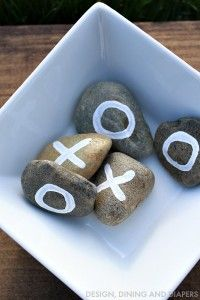 DIY Tic Tac Toe Game with Painted Rocks