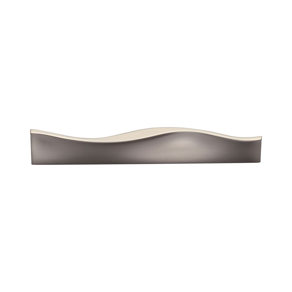 Manzoni - Modern Curvilinear Cabinet Pull in Satin Nickel ...