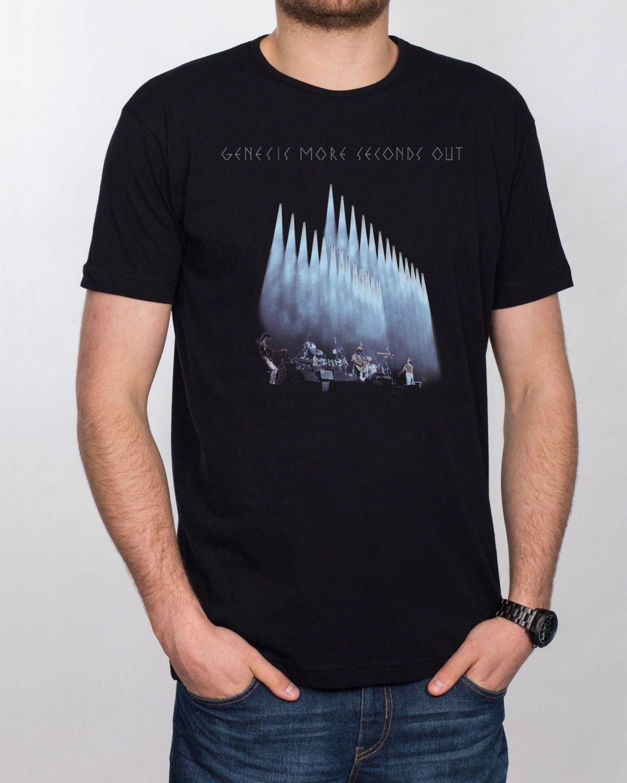 New Phil Collins *Genesis Music Singer Legend Black T-Shirt Size S to 3XL
