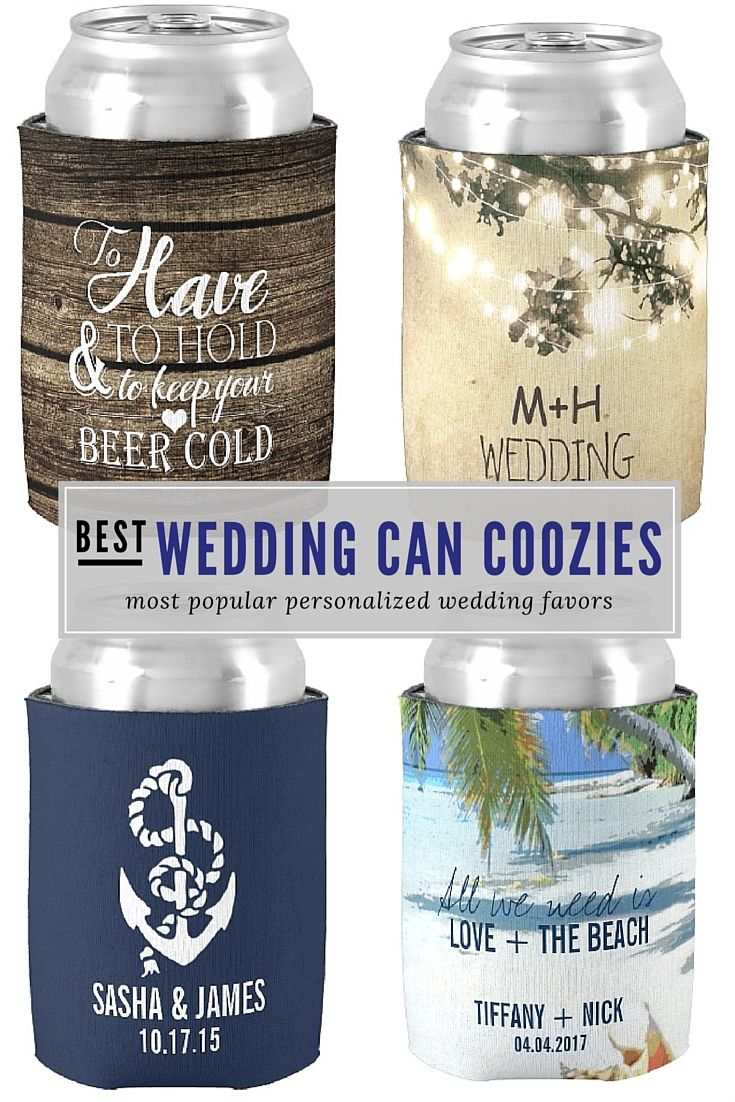 best personalized custom wedding can coolers and can coozies at www ...