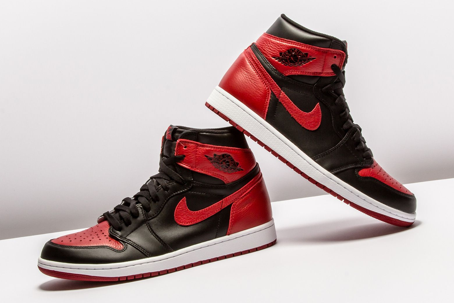 "a817fcffa1d Sneaker Trivia: Since its debut in '85, how many times did the Air Jordan 1  ""Banned"" re-release?"
