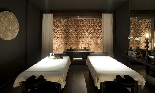 The spa room with heated massage table  Photo courtesy of