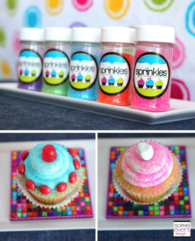 how to decorate cupcakes with sprinkles