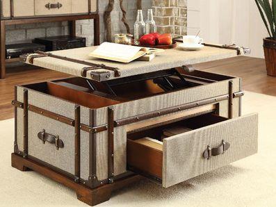 Riverside Furniture Bon Voyage Steamer Trunk Coffee Table