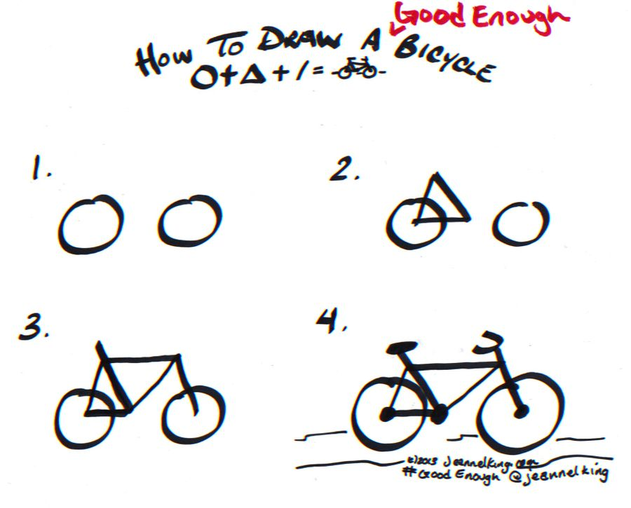 How To Draw A Good Enough Bicycle Two Ways Bicycle Drawing