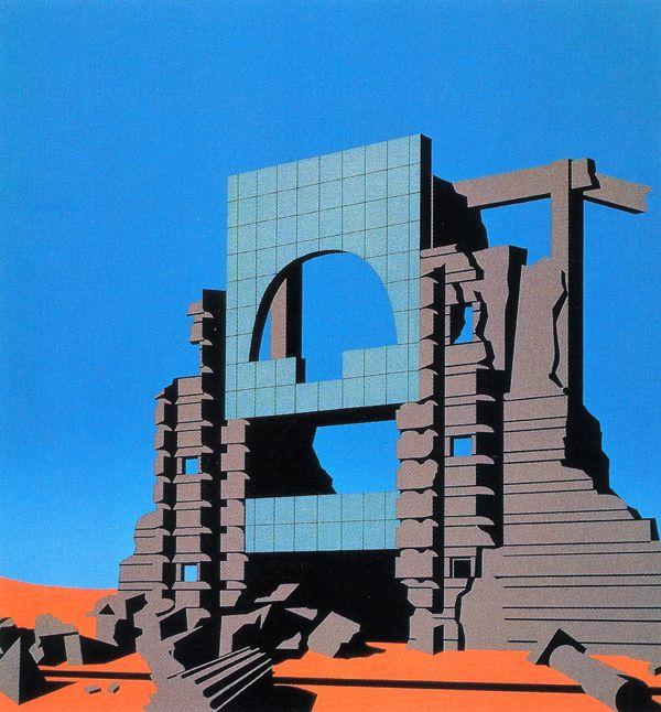 Arata Isozaki, Tsukuba Center in Ruins, 1983  Arata Isozaki Architecture Sculpture